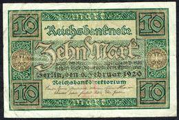 ALLEMAGNE - Reichbanknote - Zehn Mark - 10 Mark - Usagé - Used - N° M 3260527 - Année / Year 1920. - [ 3] 1918-1933 : Weimar Republic