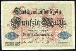 ALLEMAGNE - Fünfzig Mark - 50 Mark - Usagé - Used - Z N° M 4725953 - Année / Year 1914. - [ 2] 1871-1918 : German Empire