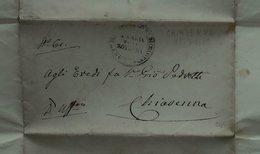 1860 Chiavenna (Sondrio) - Franchigia Ospedale - S. Maria Della Rotonda - Timbri Generalità