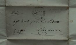 1860 Chiavenna (Sondrio) - Franchigia Ospedale - S. Maria Della Rotonda - Seals Of Generality