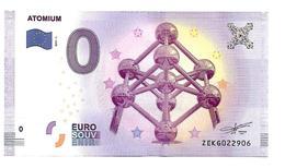 BELGIQUE   ATOMIUM  (billet 0 Euro) - EURO