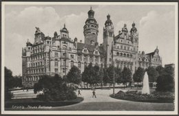 Neues Rathaus, Leipzig, Sachsen, C.1930 - Weber Foto AK - Leipzig