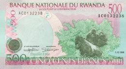 Rwanda 500 Francs, P-26a (1.12.1998) UNC - Ruanda