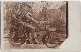 Two Men On A Motorbike - Photocard - Motorbikes