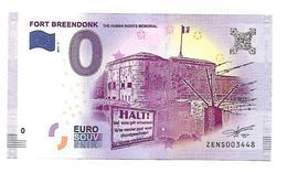 BELGIQUE   FORT BREENDONK    (billet 0 Euro) - EURO