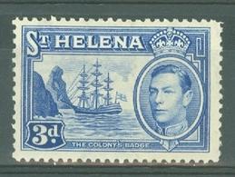 St Helena: 1938/44   KGVI     SG135    3d   Ultramarine    MH - Saint Helena Island