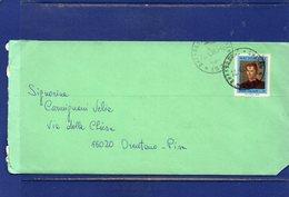 ##(DAN187)-1969-busta Affrancata Con Il Valore Isolato L-50 Machiavelli Da  Bressanone Per Pisa - 6. 1946-.. Repubblica