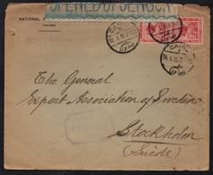 EGYPTE - EGYPT - CAIRO / 1916 LETTRE CENSUREE POUR LA SUEDE - STOCKHOLM (ref 7742) - 1915-1921 Protectorat Britannique