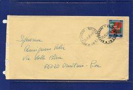 ##(DAN187)-1969-busta Affrancata Con Il Valore Isolato L-50 Conti Correnti Da  Bressanone Per Pisa - 6. 1946-.. Repubblica