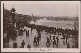 Storm Scene, Douglas, Isle Of Man, 1908 - RP Postcard - Isle Of Man