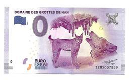 BELGIQUE   DOMAINE DES GROTTES DE HAN   (billet 0 Euro) - EURO