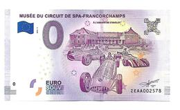 BELGIQUE   MUSEE DU CIRCUIT DE SPA FRANCORCHAMPS   (billet 0 Euro) - EURO