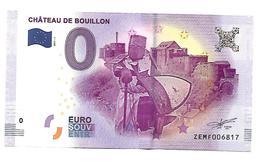 BELGIQUE  CHATEAU DE BOUILLON   (billet 0 Euro) - EURO