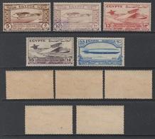 EGYPTE - EGYPTE - AVIATION - ZEPPELIN / 1933 SERIE COMPLETE # 150 A 154 ** - MNH (ref T1972) - Egypt