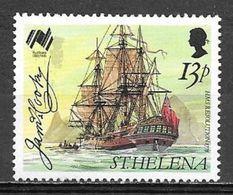 1988 13 Pence Sailing Ship HMS Resolution MNH - Saint Helena Island