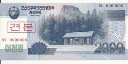 COREE DU NORD 2000 WON 2008 UNC P 65 S - Corea Del Nord