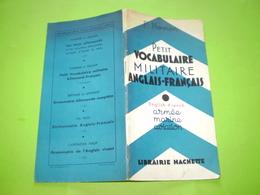 Armée, Marine, Aviation; Petit Vocabulaire Militaire Anglais Français - Documents