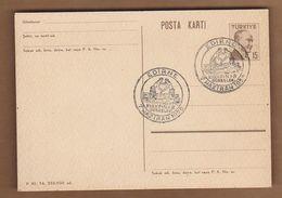 AC- TURKEY POSTAL STATIONARY - SINGLE FRAME ATATURK EDIRNE KIRKPINAR OILED WRESTLING SEALED EDIRNE, 07 JUNE 1958 AN187 - 1921-... República