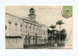 !!! CPA DE LA REUNION DE 1906 : ST DENIS, L'HOTEL DE VILLE - Reunion