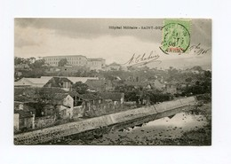 !!! CPA DE LA REUNION DE 1906 : L'HOPITAL MILITAIRE DE ST DENIS - Reunion
