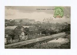 !!! CPA DE LA REUNION DE 1906 : L'HOPITAL MILITAIRE DE ST DENIS - Réunion