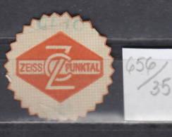 35K656 / ZEISS CZ  / Carl Zeiss / PUNKTAL   ,  CINDERELLA LABEL VIGNETTE - Advertising