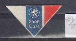 35K659 / ZDAR C.S.R. Czech Republic ,  CINDERELLA LABEL VIGNETTE - Advertising