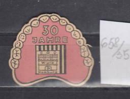 35K658 / 30 JAHRE  WIPLA HAMBURG  ,  CINDERELLA LABEL VIGNETTE - Advertising