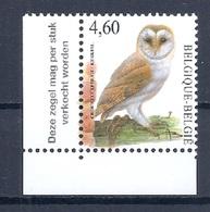 BELGIE * Buzin * Nr 3983  Vlaamse Tekst * Postfris Xx * WIT  PAPIER - 1985-.. Oiseaux (Buzin)
