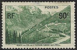 FO - France (1937) - Ouverture De La Route Du Col De L('Iseran (Alpes). Neuf Charnières / Mint Hinged. N°358. - Usados