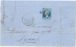 2 Lettres Fragments, Timbre Y.T. 22: 20c. Napoléon III Empire Franc. 22. Et 25 Aout 1865 (4scans) - Marcophilie (Lettres)