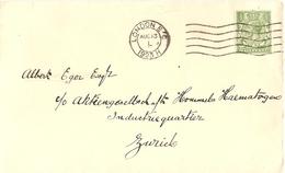 Grande-Bretagne 1921/23 - Petit Lot De 2 Enveloppes Commerciales - De Londres à Zurich Et Lausanne/Suisse - Lettres & Documents