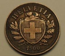 1900 - Suisse - Switzerland - 2 RAPPEN (B), KM 4.2 - Suisse