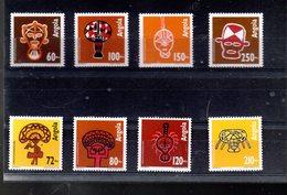 ANGOLA 846/819 + 878/881** SUR L ART QUIOCA - Angola