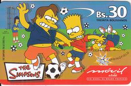 BOLIVIA - The Simpsons, Movil De Entel Prepaid Card Bs.30, Exp.date 17/09/04, Used - Bolivia