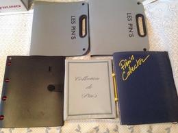 Lot De 5 Classeurs De Pin's (vides) 3 Pages Chacun Sauf LE Collector - Supplies And Equipment