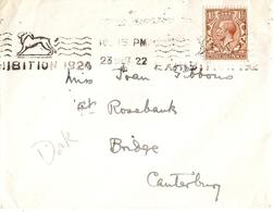 Grande-Bretagne 1922/37 - Petit Lot De 4 Enveloppes - De London Et York  à Canterbury/Norwich/Wimborne Et Torquay - Lettres & Documents