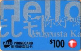 Hong Kong - HK-PP 01.00, Remote Memory, Hello Phonecard (blue), 100 HK$, Exp. 1997-04-30, Used - Hong Kong