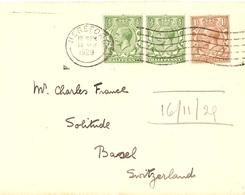 Grande-Bretagne 1929 - Enveloppe De Hereford à Basel/Suisse - Lettres & Documents