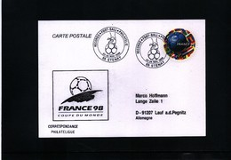 France / Frankreich 1998 World Football Cup France Postcard With Interesting Football Postmark - 1998 – Francia