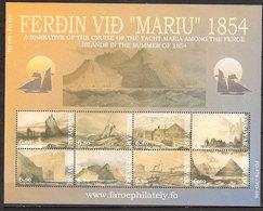 "Faroe Islands 2004 50th Anniversary Of The Cruise Of The Yacht ""Maria"" Between The Faroe Islands  Mi 487-494 Ms MNH(**) - Féroé (Iles)"