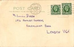 Grande-Bretagne 1935 - 2 Post Card - De South Tottenham à London W6 - Lettres & Documents