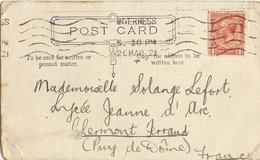 Grande-Bretagne 1926 - Post Card - De Inverness/Ecosse à Clermont Ferrand - Lettres & Documents