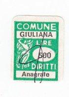 GIULIANA _ MARCA COMUNALE REVENUE STAMP - Italien