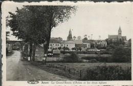 Attert La Grand Route D Arlon Et Les Deux Eglise - Attert