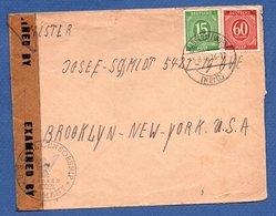 RDA / Enveloppe   / De Wasseralfingen / Pour New York  / 5-8-46 / Examined By US Censorship - [6] Democratic Republic