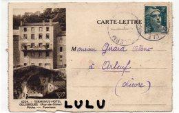 DEPT 63 : Olliergues La Dore Vue Prise Du Pont Et Le Terminus Hotel ( édit. ? ) - Olliergues