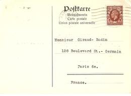 Grande-Bretagne 1936 - Carte Postale Commerciale - Agréée UPU - De Hampstead à Paris - Antiquaire Liepmannssohn - Lettres & Documents