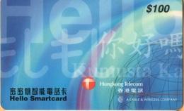Hong Kong - HK-HKT-HKT-0002C, Hello Smartcard $100 Blue (SCAB), 100 HK$, Exp 1999-11-30, Used - Hong Kong