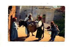 Carte Marchand Ambulant  Theme Ane Cachet Tunis  Sur Mosquee - Túnez